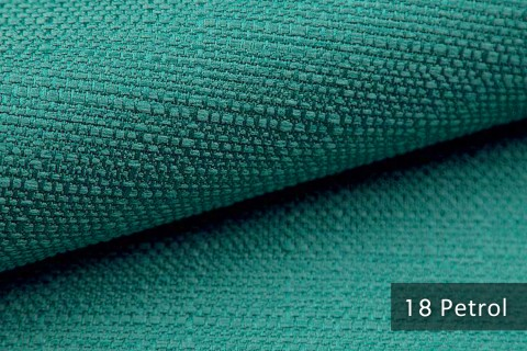 novely® GOTHA leicht grob gewebter Polsterstoff Möbelstoff | Farbe 18 Petrol
