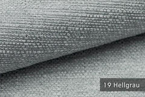 novely® GOTHA leicht grob gewebter Polsterstoff Möbelstoff | Farbe 19 Hellgrau