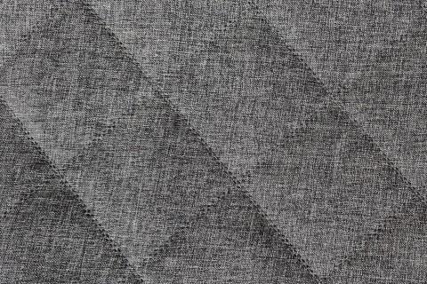 novely® LUSO Polsterstoff 3-LAGIG doppeltgesteppt kaschiert | Polsterstoff | RAUTE XL 10x10cm | Möbelstoff | 06 Grau