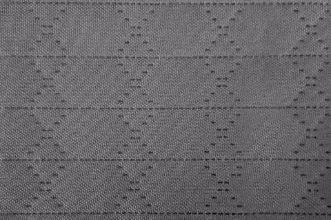 novely® HANAU UNI Webstoff | 3-LAGIG gesteppt kaschiert | Volumen Polsterstoff | Rauten/Streifen 2,5 cm | 14 Dunkelgrau