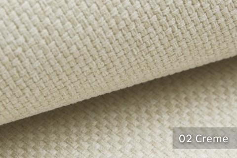 novely® GRANA melierter Webstoff Möbelstoff leicht grob gewebt Oxfordbindung | 02 Creme