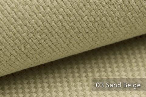 novely® GRANA melierter Webstoff Möbelstoff leicht grob gewebt Oxfordbindung | 03 Sand Beige