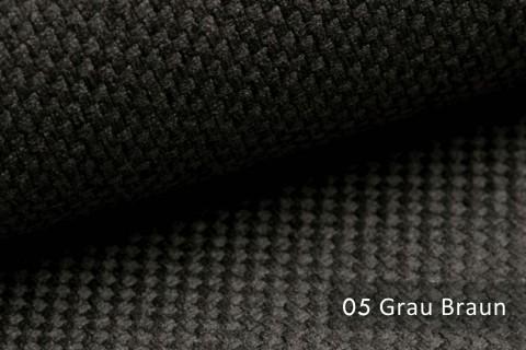 novely® GRANA melierter Webstoff Möbelstoff leicht grob gewebt Oxfordbindung | 05 Grau Braun