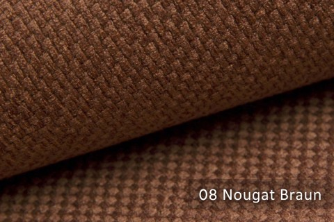 novely® GRANA melierter Webstoff Möbelstoff leicht grob gewebt Oxfordbindung | 08 Nougat Braun