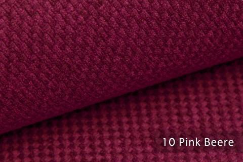 novely® GRANA melierter Webstoff Möbelstoff leicht grob gewebt Oxfordbindung | 10 Pink Beere