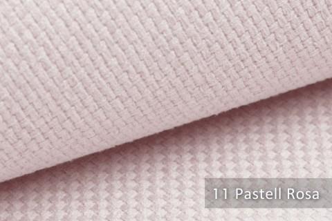 novely® GRANA melierter Webstoff Möbelstoff leicht grob gewebt Oxfordbindung | 11 Pastell Rosa