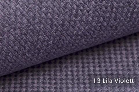 novely® GRANA melierter Webstoff Möbelstoff leicht grob gewebt Oxfordbindung | 13 Lila Violett