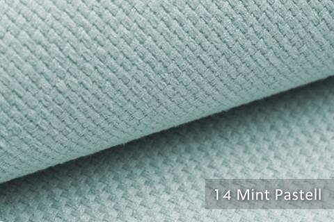 novely® GRANA melierter Webstoff Möbelstoff leicht grob gewebt Oxfordbindung | 14 Mint Pastell