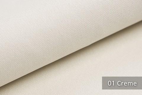 novely® HANAU UNI Polsterstoff | Möbelstoff | Farbe 01 Creme
