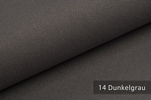 novely® HANAU UNI Polsterstoff | Möbelstoff | Farbe 14 Dunkelgrau