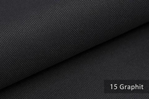 novely® HANAU UNI Polsterstoff | Möbelstoff | Farbe 15 Graphit