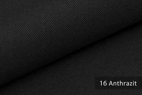 novely® HANAU UNI Polsterstoff | Möbelstoff | Farbe 16 Anthrazit
