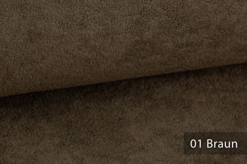 novely® HURTH Teddy-Stoff | Möbelstoff Polsterstoff | Mediterrane Erdtöne | 01 Braun