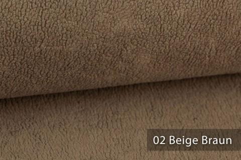novely® HURTH Teddy-Stoff | Möbelstoff Polsterstoff | Mediterrane Erdtöne | 02 Beige Braun
