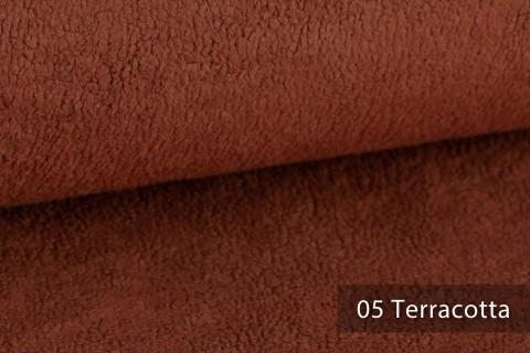novely® HURTH Teddy-Stoff | Möbelstoff Polsterstoff | Mediterrane Erdtöne | 05 Terracotta