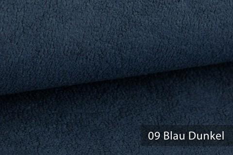 novely® HURTH Teddy-Stoff | Möbelstoff Polsterstoff | Mediterrane Erdtöne | 09 Blau Dunkel