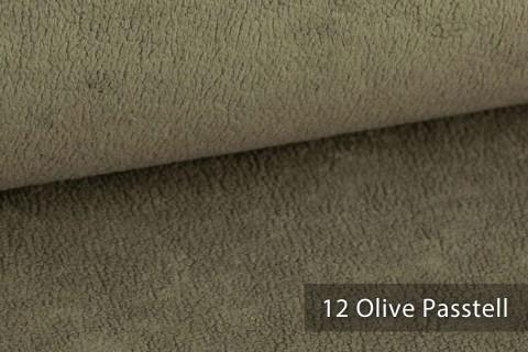 novely® HURTH Teddy-Stoff | Möbelstoff Polsterstoff | Mediterrane Erdtöne | 12 Olilve Pastell