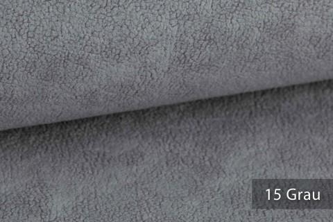 novely® HURTH Teddy-Stoff | Möbelstoff Polsterstoff | Mediterrane Erdtöne | 15 Grau