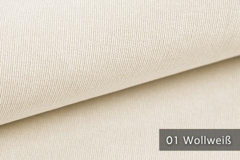 novely® ISSUM | samtig weicher Möbelstoff | Farbe 01 Wollweiß