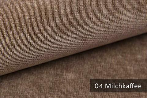 novely® ISSUM | samtig weicher Möbelstoff | Farbe 04 Milchkaffee