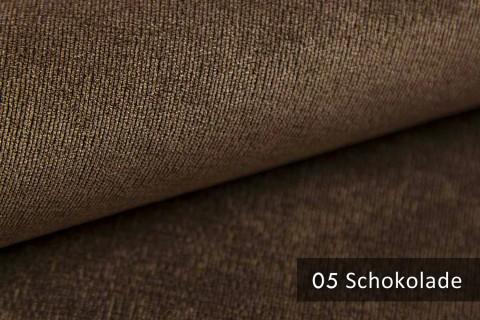 novely® ISSUM | samtig weicher Möbelstoff | Farbe 05 Schokolade