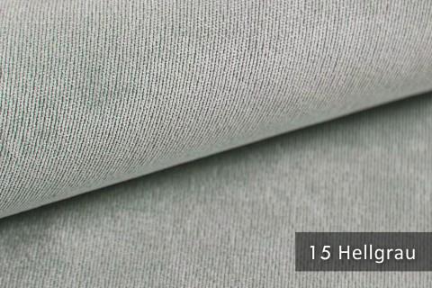 novely® ISSUM | samtig weicher Möbelstoff | Farbe 15 Hellgrau