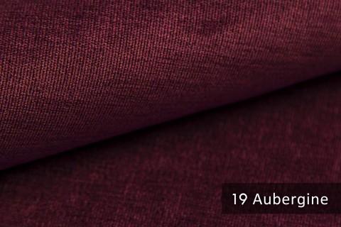 novely® ISSUM | samtig weicher Möbelstoff | Farbe 19 Aubergine