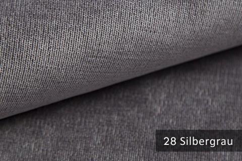 novely® ISSUM | samtig weicher Möbelstoff | Farbe 28 Silbergrau