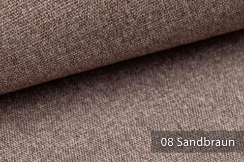 novely® JUKENAU | Melange Möbelstoff Polsterstoff | Mediterran | 08 Sand Braun