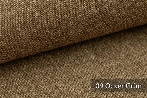 novely® JUKENAU | Melange Möbelstoff Polsterstoff | Mediterran | 09 Ocker Grün