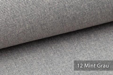 novely® JUKENAU | Melange Möbelstoff Polsterstoff | Mediterran | 12 Mint Grau