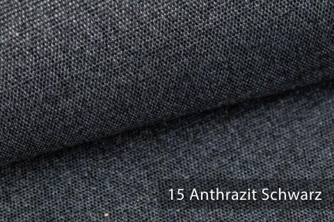 novely® JUKENAU | Melange Möbelstoff Polsterstoff | Mediterran | 15 Anthrazit Schwarz