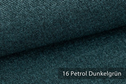 novely® JUKENAU | Melange Möbelstoff Polsterstoff | Mediterran | 16 Petrol Dunkelgrün