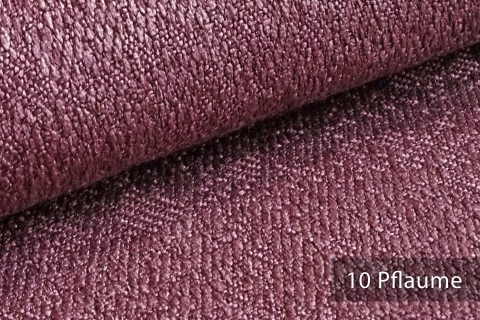 novely® KAMEN Mélange Möbelstoff dezent Perlmutt | Polsterstoff | 10 Pflaume