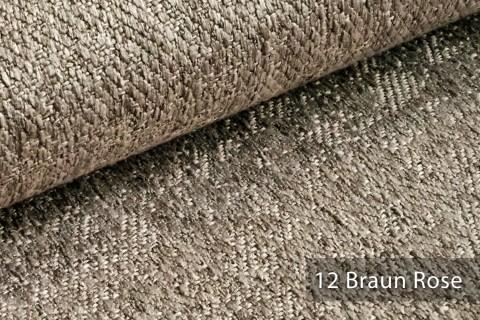 novely® KAMEN Mélange Möbelstoff dezent Perlmutt | Polsterstoff | 12 Braun Rose