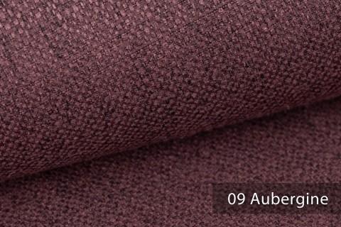 novely® KARBEN | Wollig Warm | Möbelstoff Polsterstoff | Leinen Optik | Scandi Chic Stoffe | 09 Aubergine