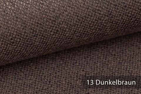 novely® KARBEN | Wollig Warm | Möbelstoff Polsterstoff | Leinen Optik | Scandi Chic Stoffe | 13 Dunkelbraun