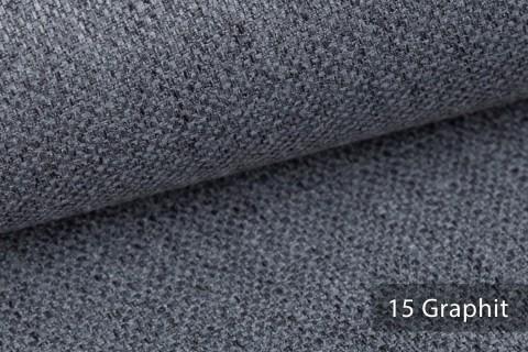 novely® KARBEN | Wollig Warm | Möbelstoff Polsterstoff | Leinen Optik | Scandi Chic Stoffe | 15 Graphit