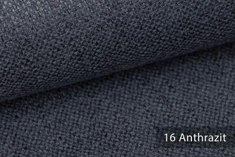 novely® KARBEN | Wollig Warm | Möbelstoff Polsterstoff | Leinen Optik | Scandi Chic Stoffe | 16 Anthrazit