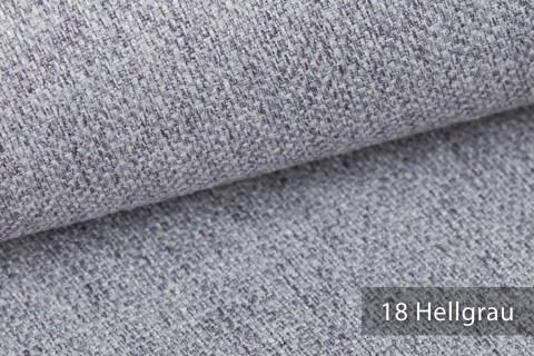 novely® KARBEN | Wollig Warm | Möbelstoff Polsterstoff | Leinen Optik | Scandi Chic Stoffe | 18 Hellgrau