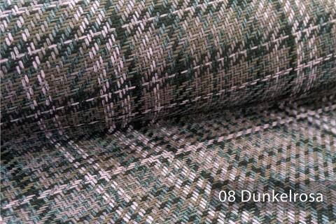 novely® Kingston English Style | Karierter Möbelstoff Polsterstoff Meterware | Farbe 08 Dunkelrosa