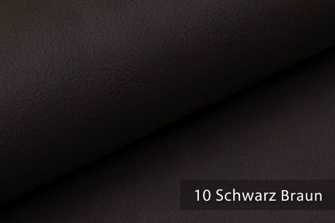 novely® KONSTANZ – Vintage Living Kunstleder Retro Style | Farbe 10 Schwarz Braun