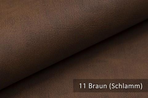novely® KONSTANZ – Vintage Living Kunstleder Retro Style | Farbe 11 Braun (Schlamm)