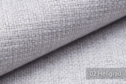 novely® KREMS melierter grob gewebter Polsterstoff in 14 modernen Farben | Farbe 02 Hellgrau