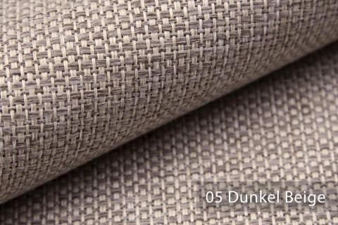 novely® KREMS melierter grob gewebter Polsterstoff in 14 modernen Farben | Farbe 05 Dunkel Beige