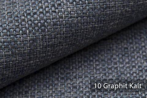 novely® KREMS melierter grob gewebter Polsterstoff in 14 modernen Farben | Farbe 10 Graphit Kalt