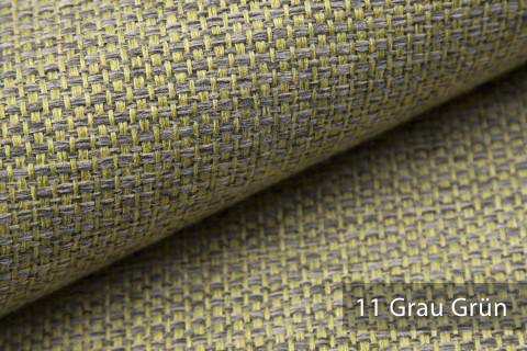 novely® KREMS melierter grob gewebter Polsterstoff in 14 modernen Farben | Farbe 11 Grau Grün