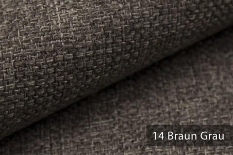 novely® KREMS melierter grob gewebter Polsterstoff in 14 modernen Farben | Farbe 14 Braun Grau
