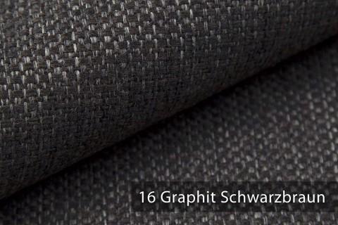 novely® KREMS melierter grob gewebter Polsterstoff in 14 modernen Farben | Farbe 16 Graphit Schwarzbraun