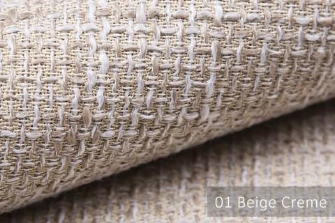 novely® LANZ Möbelstoff | Strukturstoff | Farbe 01 Beige Creme